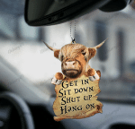 [DT0798-pw-ornm-tnt] Highland cattle Ornament Decorate Car