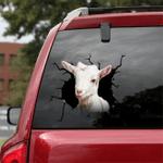 [sk1455-snf-lad] Goat Crack Car Sticker cattle Lover