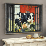 [TH0212-snf-ptd] Cow poster cattle lover
