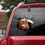 [sk1456-snf-lad] Goat Crack Car Sticker cattle Lover