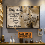 [HA0009-snf-lad] Donkey poster customize cattle lover