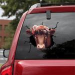 [sk1092-snf-ptd] Cow Crack Sticker Cattle Lover