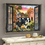 [TH0211-snf-ptd] Cow poster cattle lover