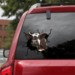 [sk1260-snf-tpa] Dairy Cow Crack Sticker cattle Lover