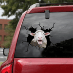 [sk1319-snf-lad] MERINO WOOL SHEEP Crack Sticker cattle Lover