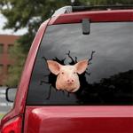 [sk1232-snf-tpa] Yorkshire Pig Crack Sticker cattle Lover