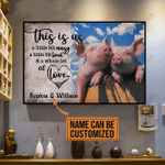 [HA0010-snf-lad] Pig poster customize cattle lover