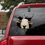 [sk1341-snf-lad] funny sheep Crack Sticker cattle Lover