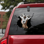 [sk1645-snf-tpa] Alpine Goat Crack Sticker Cattle Lover