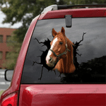 [sk1613-snf-tnt] Thoroughbred Horse Crack Sticker Cattle Lover