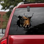 [sk1183-snf-ptd] shorthorn cow Crack Sticker cattle Lover