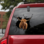[sk1095-snf-lad] Highland Cow Crack Sticker Cattle Lover