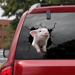 [sk1117-snf-ptd] Pig crack car Sticker Cattle lover