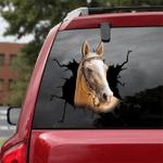 [sk1611-snf-tnt] Thoroughbred Horse Crack Sticker Cattle Lover