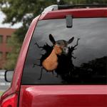 [sk1520-snf-tpa] Oberhasli Goat Crack Sticker Cattle Lover