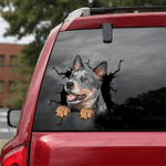 [DT0785-snf-tnt] Australian Cattle Dog Crack Car Sticker Dog Lovers
