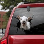 [TH0066-snf-tpa] Miniature Goat Crack car Sticker cattle Lover