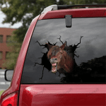 [sk1271-snf-tnt] Mustang Horse Crack Sticker Cattle Lover