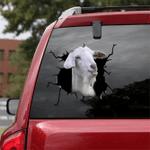 [sk1299-snf-lad] saanen goat Crack Sticker Cattle Lover