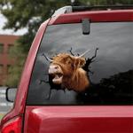 [DT0317-snf-tnt] Highland cattle Crack car Sticker cows Lover