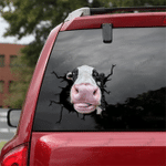 [sk1261-snf-tpa] Dairy Cow Crack Sticker cattle Lover