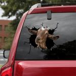 [sk1649-snf-tpa] Alpine Goat Crack Sticker Cattle Lover