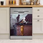 Cute Cat Dishwasher Cover 06