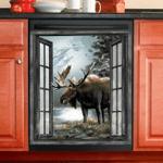 Moose Hunting Dishwasher Cover 4