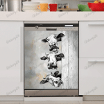 Love Cow Dishwasher Cover