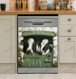 Cow Farm Window Decor Kitchen Dishwasher Cover 6