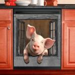 Pig Decor Kitchen Dishwasher Cover