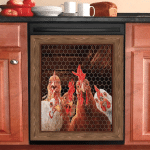 Rooster Chicken Decor Kitchen Cover 5