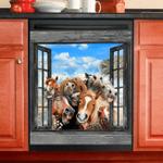 Horse Decor Kitchen Dishwasher Cover 2