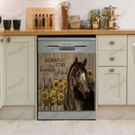 Horse Always Stay Humble & Kind Decor Kitchen Dishwasher Cover
