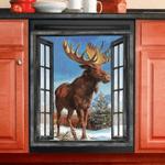 Moose Hunting Dishwasher Cover 5