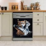 CAT DECOR KITCHEN DISHWASHER COVER 8