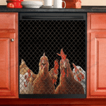 Love Chicken Decor Dishwasher Cover
