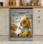 Simply Blessed Sunflower Decor Kitchen Dishwasher Cover
