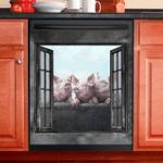 Pig Decor Kitchen Dishwasher Cover 5