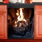 Fireplace Decor Kitchen Dishwasher Cover