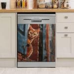 Cute Cat Dishwasher Cover 01