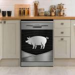Pig Decor Kitchen Dishwasher Cover 1