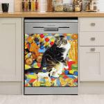 Cute Cat Dishwasher Cover 11