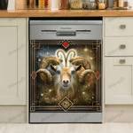 Goat Galaxy Decor Kitchen Dishwasher Cover