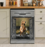 Dachshund Lovers Rooster Chicken Decor Kitchen Dishwasher Cover