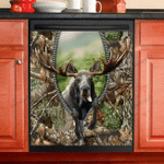 Moose Hunting Dishwasher Cover