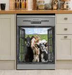 Window Cow Decor Kitchen Dishwasher Cover