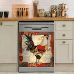 Rooster Chicken Decor Kitchen Dishwasher Cover 2