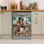 Farm Animals Decor Kitchen Dishwasher Cover 1