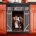 Horse Lovers Decor Kitchen Dishwasher Cover